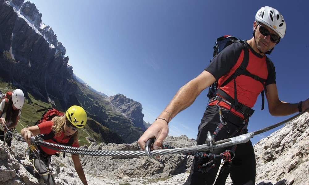 Kletterurlaub in den Dolomiten