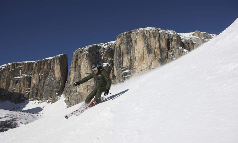 Skiing holiday in the Dolomites