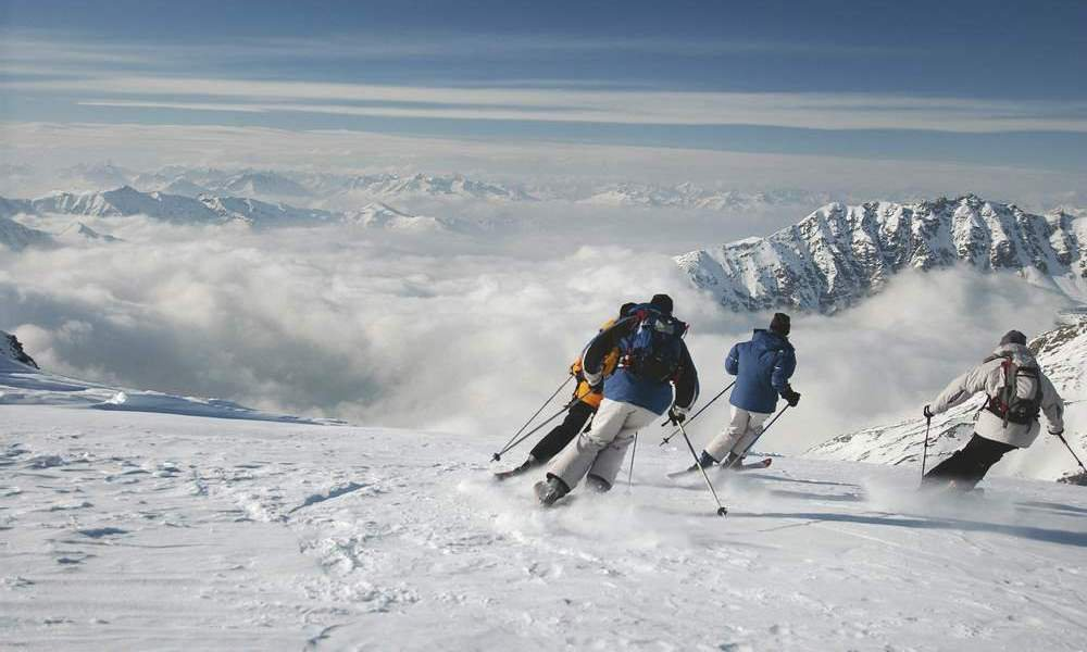 Vier Wintersportgebiete in der Nähe